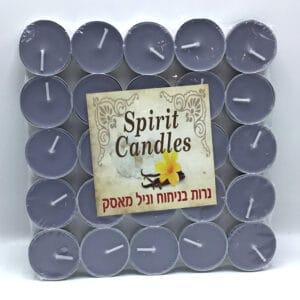 נרות ריחניים ניחוח וניל מאסק