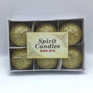 נרות צפים צבע זהב